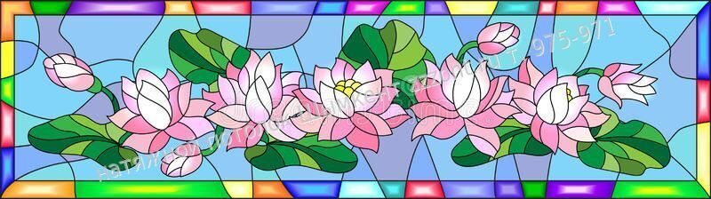 stained-glass-illustration-flowers-buds-leaves-lotus-style-79328520